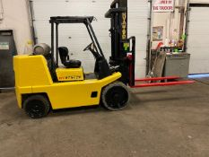 FREE CUSTOMS - Hyster 15500lbs capacity LPG (propane) Forklift with 3-stage mast (no propane tank