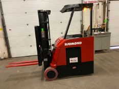 FREE CUSTOMS - 2013 Raymond 5000lbs Capacity Stand On Forklift Electric with 3-STAGE MAST sideshift
