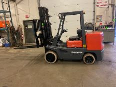 """FREE CUSTOMS - Toyota 10000lbs capacity LPG (propane) Forklift with sideshift & 60"""" forks LOW HOURS"""