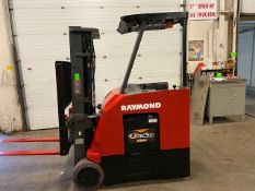 FREE CUSTOMS - 2014 Raymond 5000lbs Capacity Stand On Forklift Electric w 3-STAGE MAST sideshift