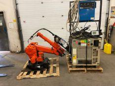 2004 ABB Robot IRB 2400 Welding Robot M2000 Control with Miller Deltaweld 452 450 Amp Mig Welder