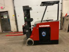 FREE CUSTOMS - Raymond 5000lbs Capacity Stand On Forklift Electric with 3-STAGE MAST with sideshift