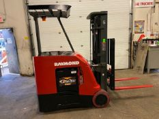 FREE CUSTOMS - 2015 Raymond 5000lbs Capacity Stand On Forklift Electric with 3-STAGE MAST sideshift