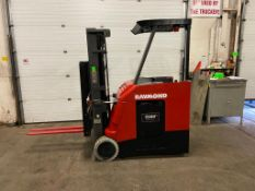 FREE CUSTOMS - 2015 Raymond 5000lbs Capacity Stand On Forklift Electric with 3-STAGE MAST with