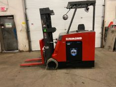 FREE CUSTOMS - Raymond 4000lbs Capacity Stand On Forklift Electric with sideshift and VERY LOW