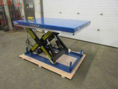 "HW Hydraulic Lift Table 48"" x 68"" x 36"" lift - 8000lbs capacity - UNUSED and MINT - 115V"