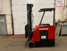 FREE CUSTOMS - 2012 Raymond 3500lbs Capacity Stand On Forklift Electric with 3-STAGE MAST sideshift