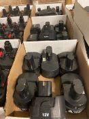 3 boxes of 14.2V, 14.4V, 7.2V and 12V Battery units (18 units total)