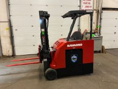 FREE CUSTOMS - 2016 Raymond 5000lbs Capacity Stand On Forklift Electric with 3-STAGE MAST sideshift