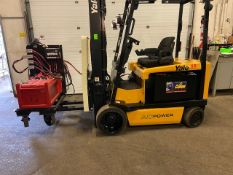 FREE CUSTOMS - 2008 Yale 6500lbs Capacity Forklift Electric with 3-STAGE MAST sideshift (