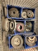 Lot of HUNDREDS of Grinding and Sanding Discs - Misc sizes (basket not included)