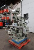 """Bernardo MINT / UNUSED Milling Machine with Full Power Feed Table on ALL AXIS (X, Y and Z) 54"""" x 10"""""""