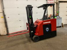 FREE CUSTOMS - 2016 Raymond 5000lbs Capacity Stand On Forklift Electric with 3-STAGE MAST