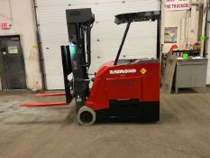 FREE CUSTOMS - 2015 Raymond 4000lbs Capacity Stand Up Forklift Electric with 4-STAGE MAST with