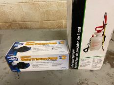 Lot of 2 (2 units) Brand New Water Pressure Pump & 1 Gallon Spot Sprayer