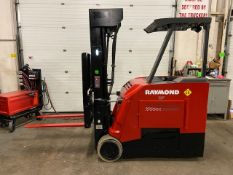 FREE CUSTOMS - 2015 Raymond 4000lbs Capacity Stand On Forklift Electric with 4-STAGE MAST &