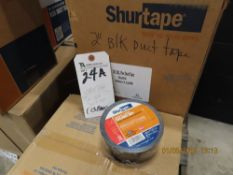 (Lot) (13 Boxes) 2'' and Other Blk Duct Tape