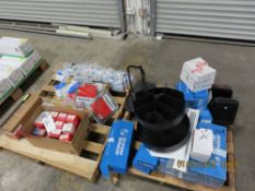 (Lot) (2) Pallets Assorted Items, System Sensors mod. 270, SRL130 Thermostat & Furnace Ignitors