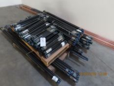 (Lot) Charman, Assorted Sizes, 1/2''x24'', 3/4''x48'', 1/2''x60'' Black Pipe Nipples (Over 200