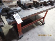 (Lot) 29'' x 60'' x 34''T Work Bench w/ Wilton Vise