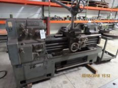 Webb 20'' x 40'' Engine Lathe w/ Tail Stock, Q.C.T.H, 4-Jaw Chuck w/ Hoist