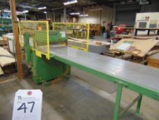 (1986) Josting Type QFS850A, 33 7/8'' Blade Size Veneer Guillotine w/ Power In & Outfeed Table