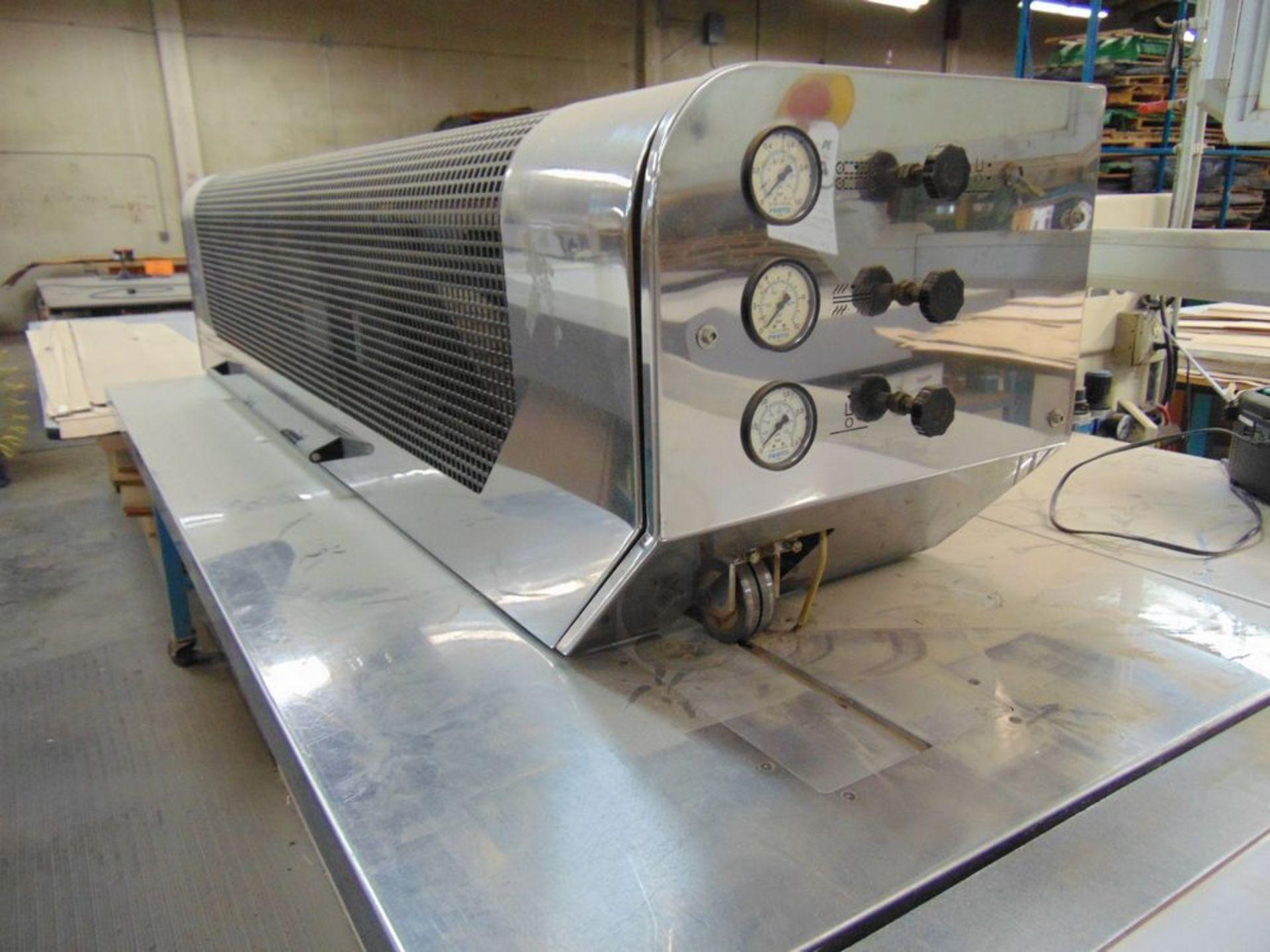 (1999) Kuper Type FCI Mach. No. 3908/0113 Veneer Splicing Machine w/ 54'' x 102''L Light Table; S/ - Image 2 of 7