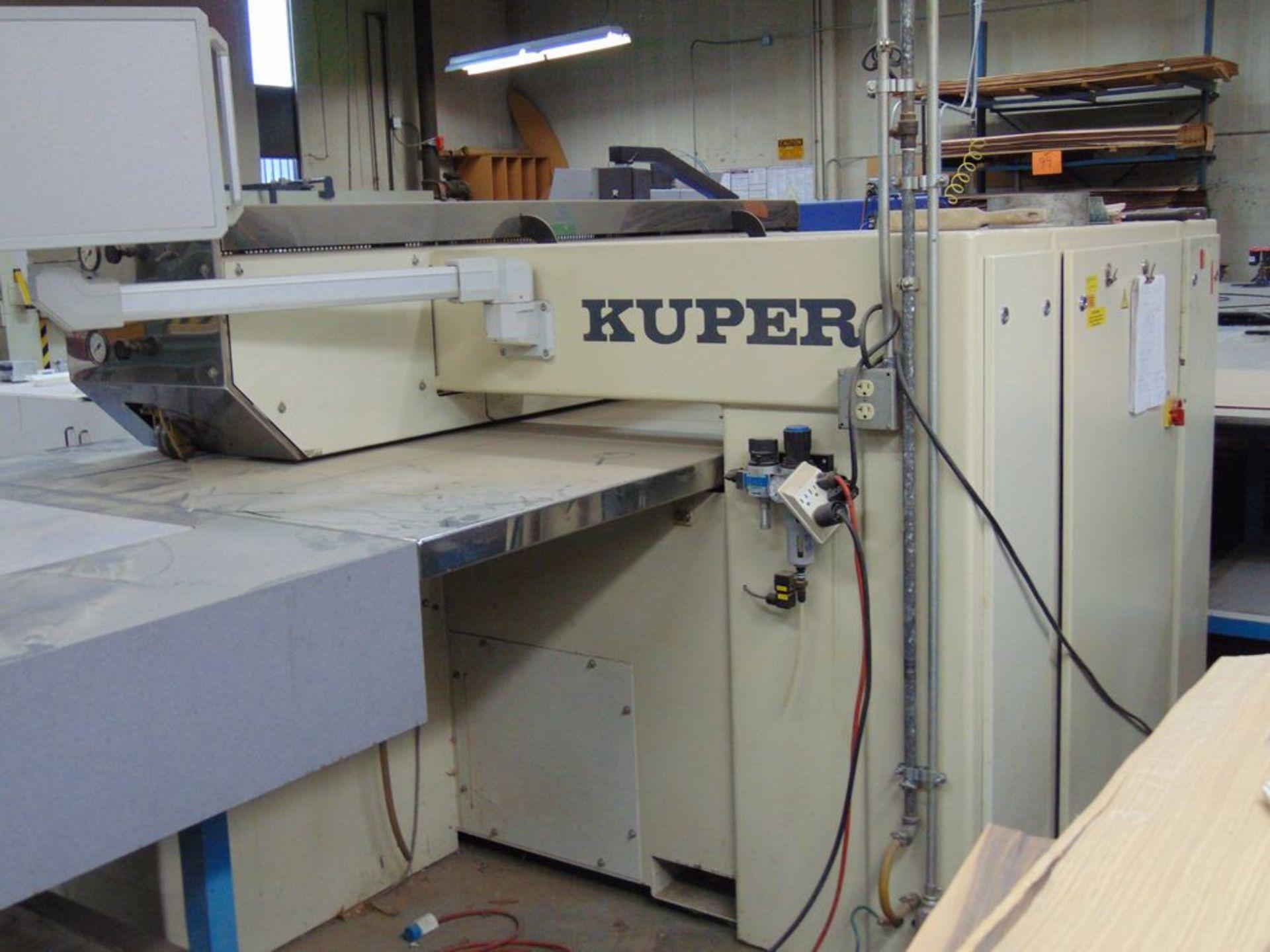 (1999) Kuper Type FCI Mach. No. 3908/0113 Veneer Splicing Machine w/ 54'' x 102''L Light Table; S/ - Image 3 of 7