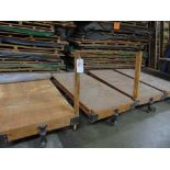 36'' x 72'' Lumber/Furniture Carts w/ Die Cast Caster Wheels