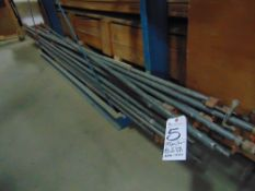 (Lot) Pipe Clamps, 10'L & Other Sizes, Approx 15 pcs