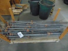 (Lot) Pipe Clamps, 5'L & Other Sizes, Approx. 25 pcs