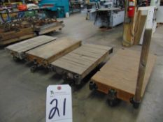 27'' x 48'' Lumber/Furniture Carts w/ Die Cast Coaster Wheels (Carts Only)