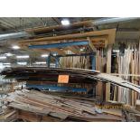 (Lot) Plywood, Veneer & Misc. Wood w/ Rack