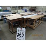 (Lot) Assorted Size Wood Work Tables