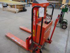 Interhor, 2,200lb. Cap. Trans Positioner Electric Pallet Jack w/ Charger