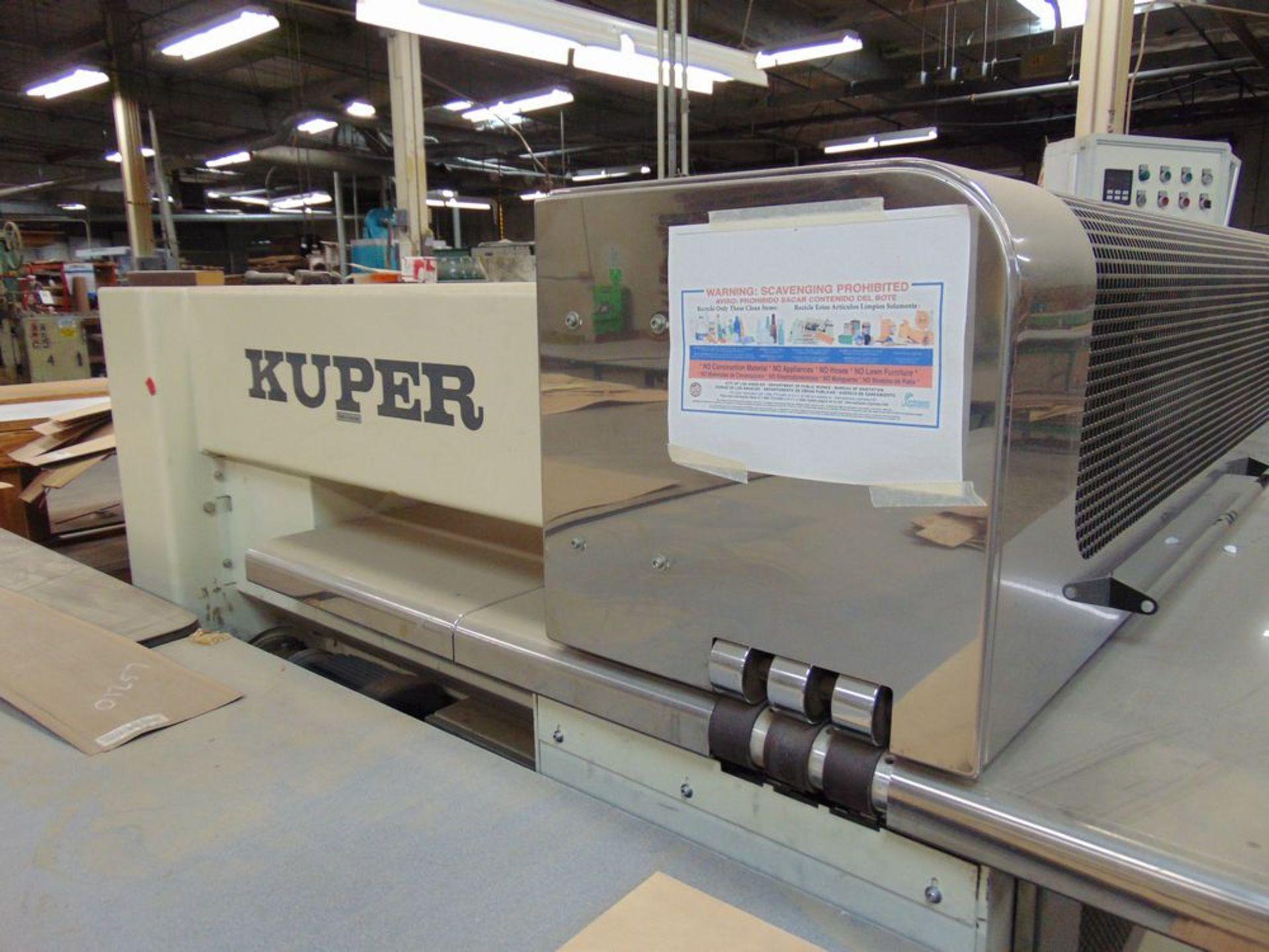 (1999) Kuper Type FCI Mach. No. 3908/0113 Veneer Splicing Machine w/ 54'' x 102''L Light Table; S/ - Image 5 of 7