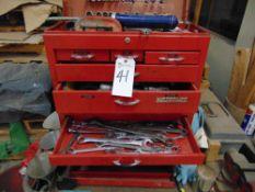 (Lot) Waterloo Tool Box w/ Tools & Cart