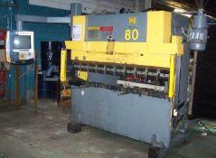 Haco CNC 3 Axis Hydraulic Press Brake 60 Ton x 82''