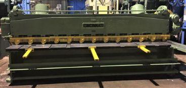 Cincinnati Power Shear 3/16'' x 12'. LOADING FEE FOR THIS LOT: $500