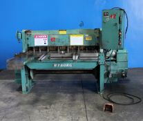 Wysong Power Shear 12 Ga. x 4'. LOADING FEE FOR THIS LOT: $400