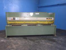Adira Hydraulic Power Shear 1/4'' x 10'. LOADING FEE FOR THIS LOT: $800