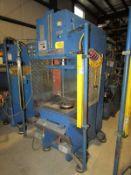 Neff Hydraulic C Frame Press 19 Ton x 24'' x 20.5''. LOADING FEE FOR THIS LOT: $400