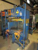 Neff Hydraulic C Frame Press 12 Ton x 23'' x 20''. LOADING FEE FOR THIS LOT: $250