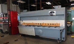 Atlantic Hydraulic Power Shear 1/2'' x 10'. LOADING FEE FOR THIS LOT: $1200