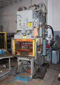 PH Hydraulics Hydraulic C Frame Press 50 Ton x 26'' x 18''. LOADING FEE FOR THIS LOT: $500