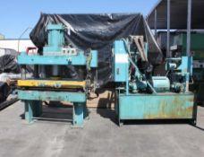 Denison Multipress Hydraulic Heated Platen Press 150 Ton x 72'' x 24''