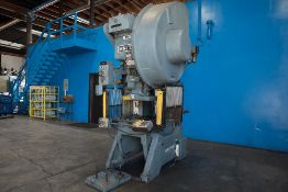 Minster OBI Punch Press 45 Ton x 28'' x 18''. LOADING FEE FOR THIS LOT: $600