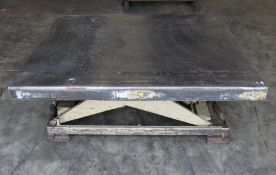 Southworth Hydraulic Lift Table 2,000 Lbs. x 46'' x 52''. LOADING FEE FOR THIS LOT: $50