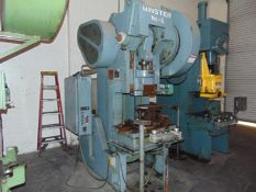 Minster OBI Punch Press 60 Ton x 32'' x 21''. LOADING FEE FOR THIS LOT: $550
