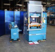 Wabash Heated Platen 4 Post Hydraulic Press 75 Ton x 18'' x 18''